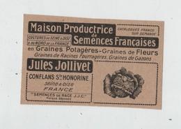 Maison Productrice De Semences Françaises Jollivet Conflans Sainte Honorine  1923 - Pubblicitari