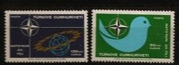 Turquie 1969 N° 1888 / 9 ** Organisation Du Traité De L'Atlantique Nord, OTAN, Colombe, Militaire, Sécurité, Nucléaire - 1921-... Republic