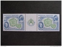 Polynésie: TB Paire Avec Vignette Centrale PA N° 192A , Neuve XX . - Ungebraucht