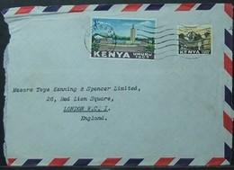 Kenya - Cover To England 1963 Assembly Mount Mombasa - Kenia (1963-...)