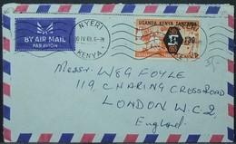 Kenya Uganda Tanzania - Airmail Cover To England 1969 ILO 1/3 Solo Nyeri - Kenia (1963-...)