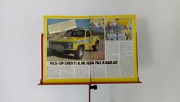 Ancienne Coupure De Presse Automobile Chevrolet Chevy S 10 Pick-Up - Voitures (Courses)