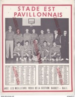 Au Plus Rapide Calendrier Photo Année 1969 Stade Est Pavillonnais Pavillons Sous Bois Excellent état - Other