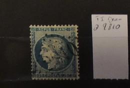 05 - 20 // France N° 60 Type 1 Oblitération GC 2810 Penne Du Tarn - Indice 16 - 1871-1875 Cérès