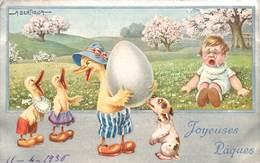 BERTIGLIA- A  (illustrateur) - Joyeuses Pâques. - Bertiglia, A.