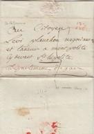 LETTRE. 17 PLUVIOSE AN 6. DE PELLISSANE  OUCHES-DU-RHONE. MARQUE ROUGE 12/LAMBESC 28mm POUR ST HYPOLITE GARD - Postmark Collection (Covers)
