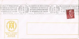 36631. Carta VILLAGARCIA De AROSA (Pontevedra) 1978. Feria FESDEGA, Exposicion - 1931-Hoy: 2ª República - ... Juan Carlos I