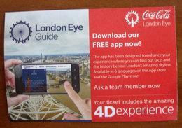 Regno Unito London Eye POS - Usato 2019 - Tickets - Vouchers