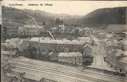 Trois-Ponts - Intérieur Du Village (Coopérative St Antoine, 1961...pli) - Trois-Ponts