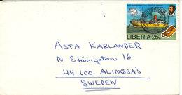 Liberia Cover Sent To Sweden 21-7-1976 - Liberia