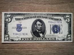 1934-D UNITED STATES SILVER CERTIFICATE $5 (( AUNC )) - Certificats D'Argent (1928-1957)