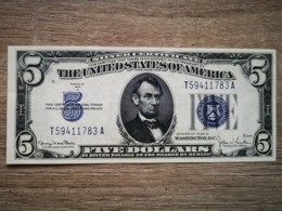 1934-D UNITED STATES SILVER CERTIFICATE $5 (( AUNC )) - Silver Certificates (1928-1957)