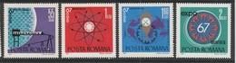 SERIE NEUVE DE ROUMANIE - EXPOSITION INTERNATIONALE DE MONTREAL N° Y&T 2341 A 2344 - 1967 – Montreal (Kanada)