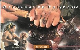 POLYNESIE FRANCAISE  -  PhoneCard  - Sculpteur Sur Bois  -  30 Unités  -  PF 87 - Frans-Polynesië