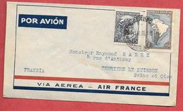 Enveloppe AIR FRANCE 1933 AEROPORT BUENOS AIRES (ARGENTINE) POR AVION Adressée à RAYMOND BARRE (Verrieres Le Buisson(F99 - Poste Aérienne