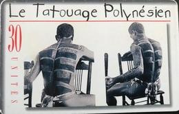 POLYNESIE FRANCAISE  -  PhoneCard  - Tatouage Tino  - 30 Unités  -  PF  91 - French Polynesia