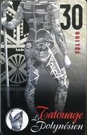 POLYNESIE FRANCAISE  -  PhoneCard  - Tatouage Tane  - 30 Unités  -  PF  92 - French Polynesia
