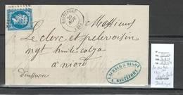 France - Lettre - PC Du GC - 1765 - HAUTEFORT - Dordogne - 1865 - Marcophilie (Lettres)