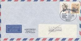 Germany Air Mail Cover First Lufthansa Flight LH 1130 Köln/Bonn - Aarhus 12-11-1990 - [7] Repubblica Federale