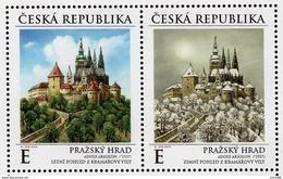 2019 : Le Château De Prague Au Cours Des Saisons : été Et Hiver - Ungebraucht