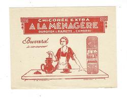 BUVARD  CHICOREE A LA MENAGERE   DUROYON ET RAMETTE   CAMBRAI  *****     A SAISIR   ***** - Café & Thé