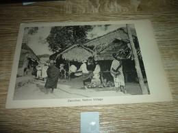 Carte Postale  Afrique Zanzibar Native Village Animée - Tanzania