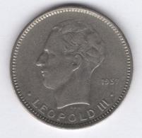 Belgique. 5 Francs 1937 TTB. Morin # 453b (position B) - 1934-1945: Leopold III.