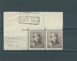 Belgique 1919 - N° 165 CU . Variété,  Voir à Gauche Du Casque. - Errors And Oddities