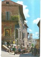 ASSISI  VIA MEDIOEVALE SULLO SFONDO LA CHIESA DI S.PIETRO - Perugia