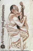 POLYNESIE FRANCAISE  -  PhoneCard  - Chanteur Dans Une Bringue Marquisienne  -  30 Unités  -  PF 98 - French Polynesia