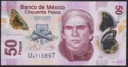MEXICO P123Ad  50  PESOS 27.10.2014   Serie M       VF - Mexiko