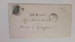1871 - Lettera Inviata Da Pesaro A Terranova (CL) Annullata Con Timbro Numerale A Punti (119) - Storia Postale