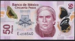 MEXICO  P123Ac 50  PESOS  10.6.2013 SERIE J         VF Folds - Mexiko
