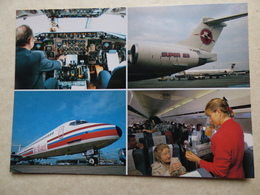 JET ALSACE  MD 83     /    AIRLINE ISSUE / CARTE COMPAGNIE - 1946-....: Modern Era