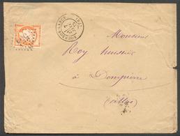 I8 - N° 38 Sur Lettre Ob. Bourbon Lancy GC 554 - 1870 Siège De Paris