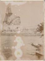 UR 4-(75) LE GLOBE CELESTE ( TERRESTRE ),TOUR EIFFEL - EXPOSITION UNIVERSELLE PARIS 1900 - PHOTO SUR SUPPORT CARTONNE - Lieux