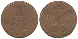 00110 GETTONE TOKEN JETON AUSTRIA TRASPORTO TRANSIT TRAM OMNIBUS STASSENBAHN WIEN 1938 - Jetons En Medailles