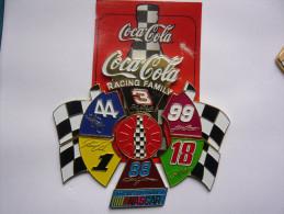 Rare Big Pin S Puzzle 6 Pieces COCA COLA NASCAR 8 X 7 Cm Neuf - Coca-Cola