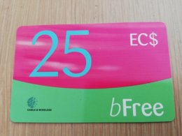 GRENADA $25  B-FREE C&W  Fine Used Card  ** 2098** - Grenada