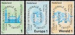 ✔️ Netherlands Nederland 2011 - Cour Internationale De Justice - Complete Set - NVPH D61/D63 ** MNH - Servicios