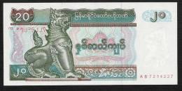 MYANMAR P72 20 KYATS  1994   UNC. - Myanmar