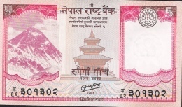 NEPAL  P69   5  RUPEES   2012    UNC. - Népal