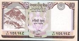 NEPAL  P70   10  RUPEES   2012 Signature 16    UNC. - Nepal
