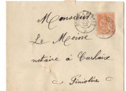 B17 20 06 1902 Lettre  Carhaix  Rennes  (dept  29 22 56) Ambulant - Marcophilie (Lettres)