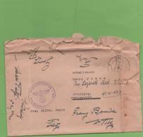 Courrier 5/03/42  De L'administrateur Départemental 3ème Reich De Strasbourg Pour Fribourg - Poststempel (Briefe)