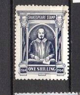GB . Shakespeare Stamp; Unused; Stained . Heavy Mounted. - Steuermarken