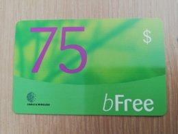 ST LUCIA   $75 ,- GREEN   B- FREE /GREEN  Prepaid Fine Used Card  ** 2103** - St. Lucia