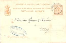 Postkarte: Dommeldingen - Metz  12.09,1880 P44 - Entiers Postaux