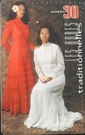 POLYNESIE FRANCAISE  -  PhoneCard  - Robes, Traditionnelles - Ute  -  30 Unités  - PF 101 - Frans-Polynesië