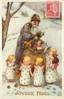 JOYEUX NOËL - Père Noël Et Angelots. - Santa Claus